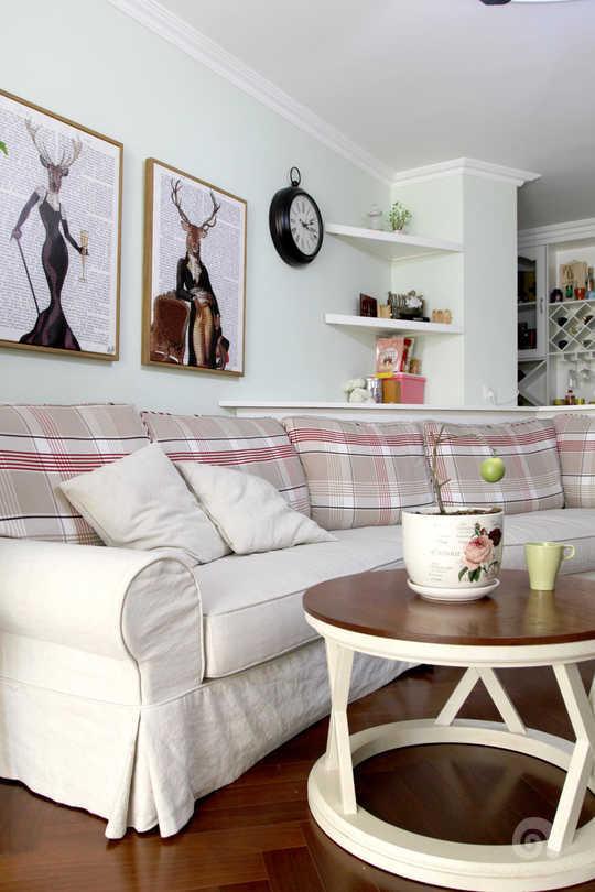 窝牛装修简美背景床风格墙效果图图片